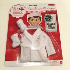 The Elf On The Shelf Claus Couture Relaxing Robe And Slippers Clothing Set NIP