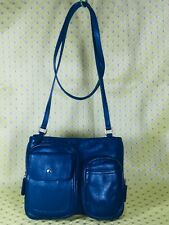 Vintage Fossil Cross-body bag Shoulder Bag Purse handbag Blue Leather