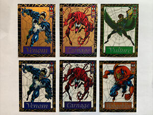 Spiderman Trading Cards 1994 Gold Web Suspended Animation Venom Carnage Lot