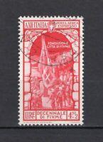 #984 - Regno - 4,50 lire posta aerea Decennale annessione di Fiume, 1934 - Usato