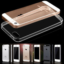 Glossy 0.2mm Clear Transparent Dustproof Plug Case Cover for Apple iPhone 5 5s