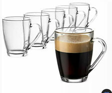 Bormioli Rocco ICON Glass Coffee Mug Set - 10 ¾ Ounce (6 Pack) With Tea