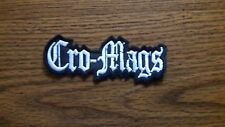 CRO-MAGS,SEW ON WHITE EMBROIDERED PATCH