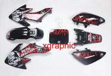 Black Body Plastics Decals Emblem Stickers SSR Thumpstar Honda CRF50 XR50 Bike 4
