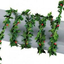 1:12 Scale Holly Leaf With Berry Garland Tumdee Dolls House Climbing Plant 3806
