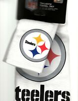 Pittsburgh Steelers Hand Towel Set 2 Pack Velour McArthur Tailgate Kitchen Bath