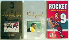 3 FILMS VHS EN FRANÇAIS DE 1996-98 et 2000, LES LÉGENDES DU HOCKEY ET LE ROCKET