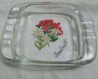 Vintage 1950s Handpainted Innsbruck Austria   Souvenir Ashtray Flowers MCM