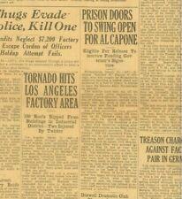 Scarface Al Capone Prison Doors swing open Ghandi Arrest  March 16 1930  B25