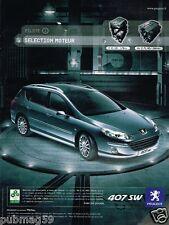 Publicité advertising 2007 Peugeot 407 SW