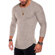 Mens Winter Warm Slim Fit Long Sleeve Buckle T-shirt Casual Tops Blouse Shirts