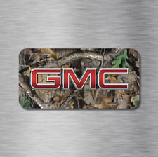 GMC Camo Camouflage Sierra General Motors Vehicle License Plate Front Auto Tag