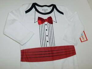 Infant Boy 6 9 Month Tux Tuxedo One Piece Creeper