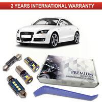 Audi TT MK2 8J3 2006-2014 LED Interior Premium Kit SMD Bulbs White Error Free
