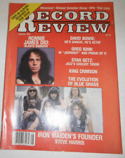 Record Review Magazine David Bowie & Iron Maiden August 1983 071614R