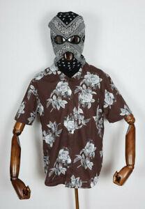 Huf Worldwide Skateboard T-Shirt Tee Woven Hemd Widowers Deep Mahogany in M