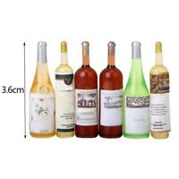 6Pcs Colorful Wine Bottles Dollhouse Miniature 1:12 Scale W0J7