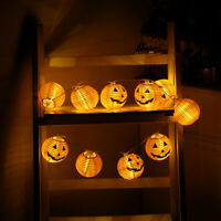 6/10LED Halloween Pumpkin Fairy Lights String Lamps Lantern Party Home DIY Decor