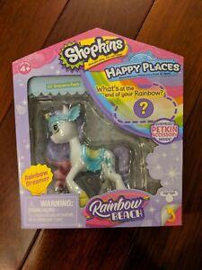 Shopkins Happy Places Rainbow Beach Rainbow Dreamer Lil' Unicorn Pony Pack NEW
