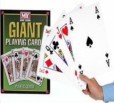 A4 Giant Jumbo Big Playing Cards Deck Family Party Game Outdoor Garden BBQ Magic
