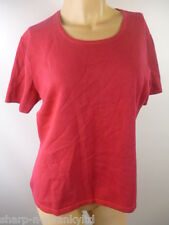 ☆ Ladies Pink Short Sleeved Jumper Sweater Top UK 12-14 EU 40-42 ☆