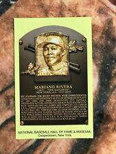 Mariano Rivera Postcard- Baseball Hall of Fame Induction Plaque - Photo