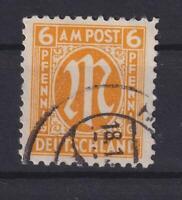 Bizone 20 AX a 6 Pfennig AM-Post gestempelt KB Schlegel (bt530)