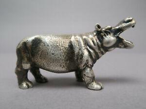 Sterlingsilber Silber Nilpferd Hippo 925er