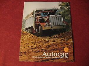1974 Autocar Truck Semi Rig Sales Brochure Booklet Catalog Book Old