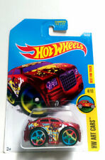 2016 Hot Wheels HW Art Cars Chrysler 300C Red 4/10 w/Large 5 Sp BEST FOR TRACK