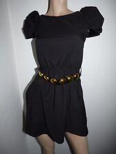 RIVER ISLAND BLACK CAP SLEEVE FULL ZIP DRESS SIZE 6
