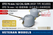 VETERAN 1/350 VTM-35017 OTO 76mm/62 CAL GUN (JMSDF TYPE INCLUDED)