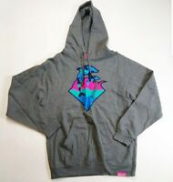 Pink Dolphin Mens 100% authentic pullover L/S Hoodie size Medium gray