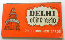 More details for delhi old and new-vintage book of 20 colour postcards-india-very good condition