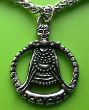Viking Goddess Freya Pewter Pendant Necklace on chain - Goddess of Love - Freyja