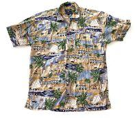 Chaps Ralph Lauren Hawaiian Aloha Button Down Shirt Mens Size Large L