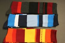 3 Pair Men's or Women's knee high BOOTS socks shoe size 9-11 SOLID Brown Black y