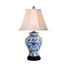 """Chinese Blue and White Porcelain Vase Floral Motif Table Lamp 26"""""""