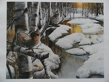 """*Kevin Daniel """"ROUGHED GROUSE ON SPRING CREEK""""-Stream-Trees-Country-Art-SN*RARE"""