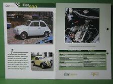 Fiat 500-Hoja de datos car-Collection, de Editorial Delprado