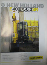 NEW HOLLAND E40.2/50.2SR BAGGER PROSPEKT SALES BROCHURE DÄNISCH