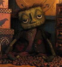 PATTERN Primitive Halloween Frankenstein Doll Monster Doll Goth Odd FREE SHIP