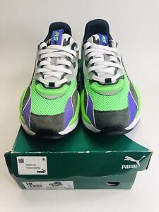 Puma RS-2K Internet Exploring Purple Gray Fluorescent Green 373309 02 Men's 9.5