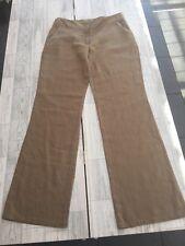 Naf Naf Beige Wide Leg Triusers With Sequin Detail & Pockets Sz14/42