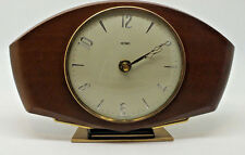 Vintage Metamec wooden table mantle clock. Converted to battery operated. Retro