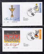B 5203 ) Germany 2014 Cartoons Sports Sports Aid: Comics of 3 beautiful FDC