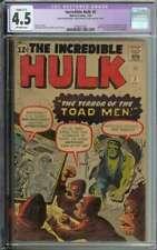 Incredible Hulk #2 CGC 4.5(R) 1st App Green Hulk