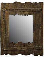 Wooden DRIFTWOOD Wall Mirror Rustic Nautical Style 41cm