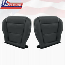 2001-2006 Acura MDX Driver-Passenger Bottom Perforated Leather Seat Cover Black