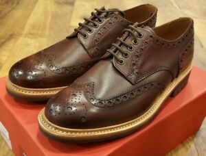 Grenson Archie Commando Brogue Dark Brown Shoes, Size 11US (10UK)